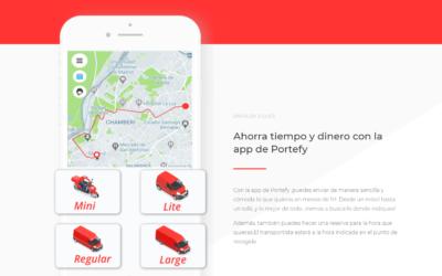 Portefy facilita el transporte inmediato a los empresarios y particulares españoles, ayudándoles en su transformación digital